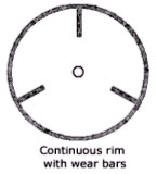 continuous rim with wear bars