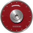 turbo blade with flange